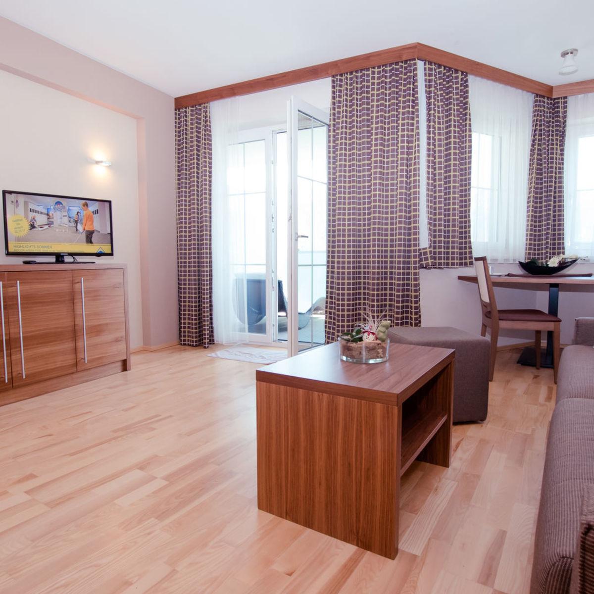 Luxury living room with balcony